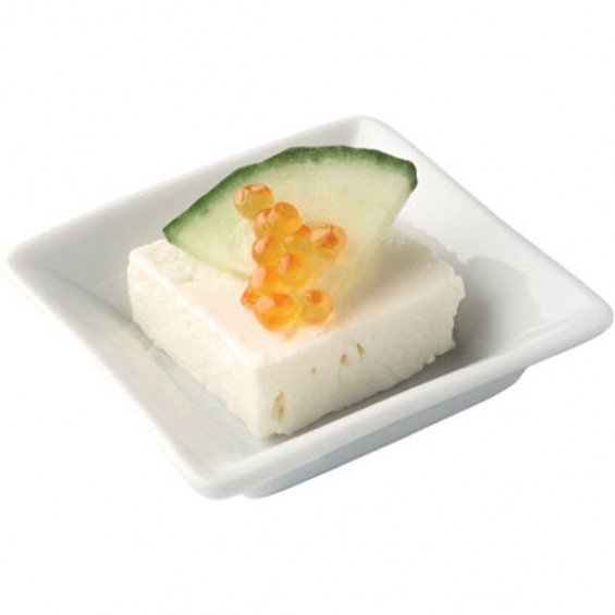 Porcelain Mini Square Plate 3.5 in. - Pack of 12