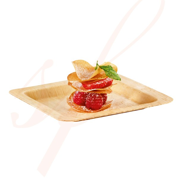 Square Bamboo Plate 5.9 in. 100/cs - $0.79/pc