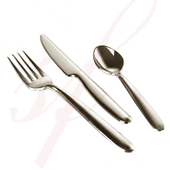 Plastic Spoon 5.5 in. Silver - 200/cs - $0.11/pc