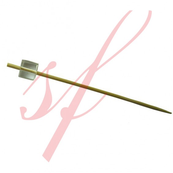 Bamboo Cube Skewer Clear 3.5 in. 200/cs - $0.06/pc