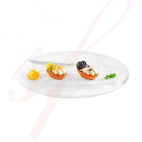 Assiette Jetable Haut de Gamme Emeraude 15 cm. Blanc - 100/cs