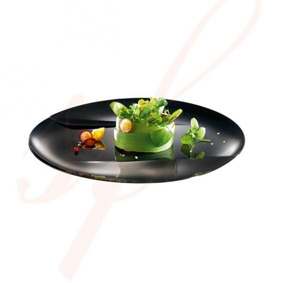 Assiette Jetable Haut de Gamme Emeraude 15 cm. Noir - 100/cs