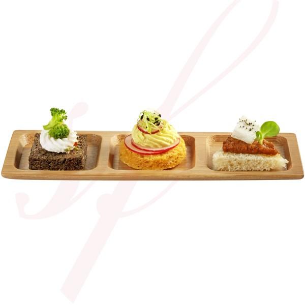 Trio Mini Bamboo Plate 7.5 in. 100/cs