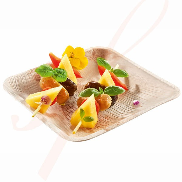 Assiette Biodégradable en Palmier 15 cm. - 200/cs