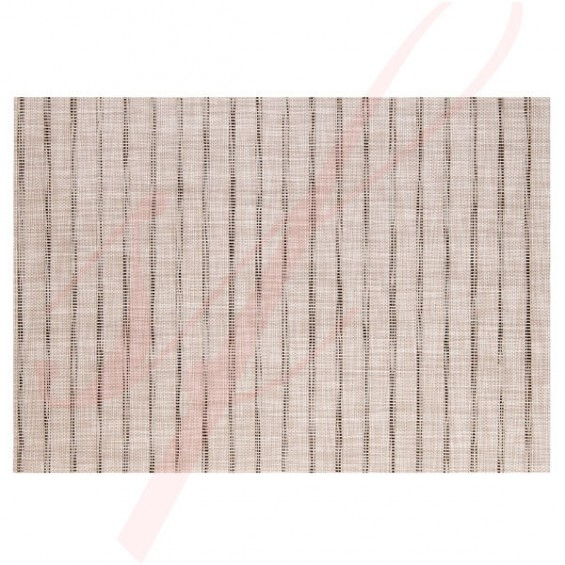 High End Stripe Grey Placemats - 12/cs