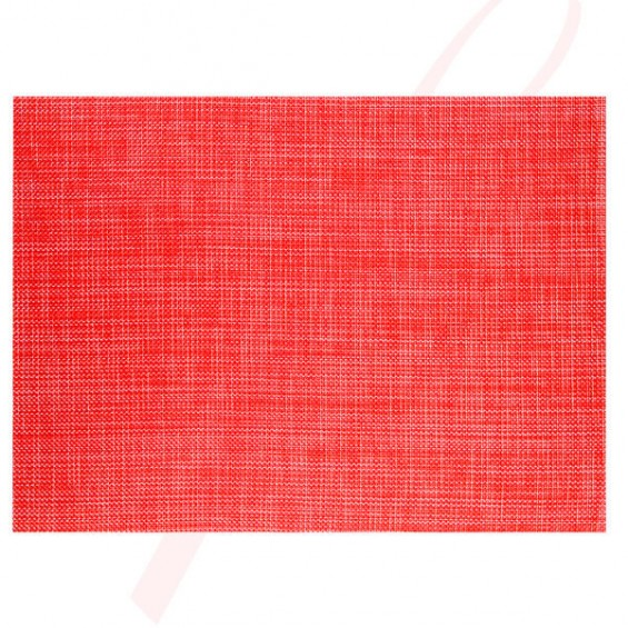Plain Red Placemats - 12/cs