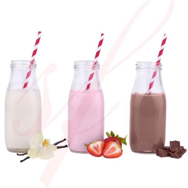 Mini Glass Milk Bottle 6.7 oz. 6/cs