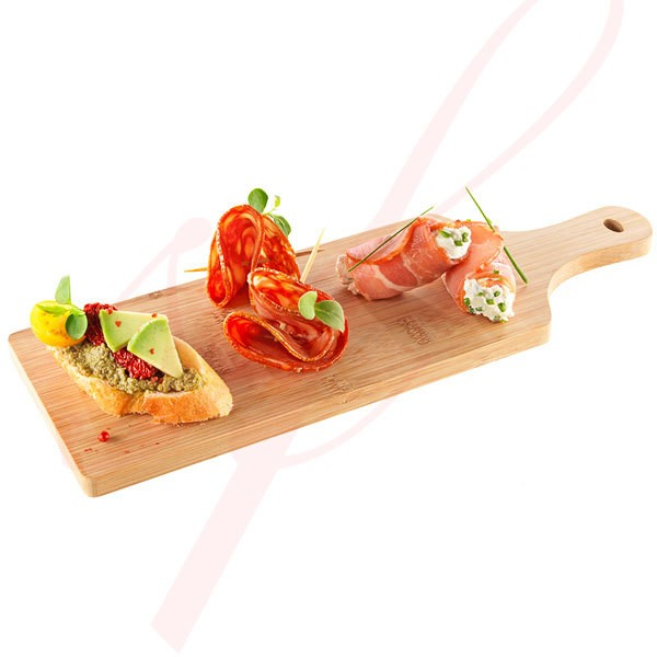 Bamboo Reusable Serving Board 11.8 in. x 4 in. 10/set