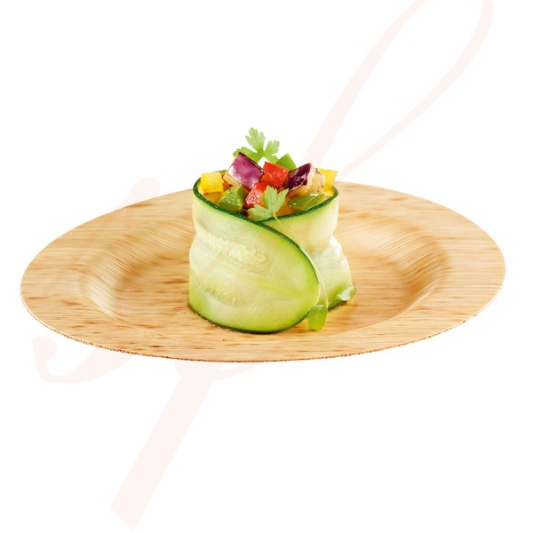 Round Bamboo Plate 3.5 in. 200/cs - $0.29/pc