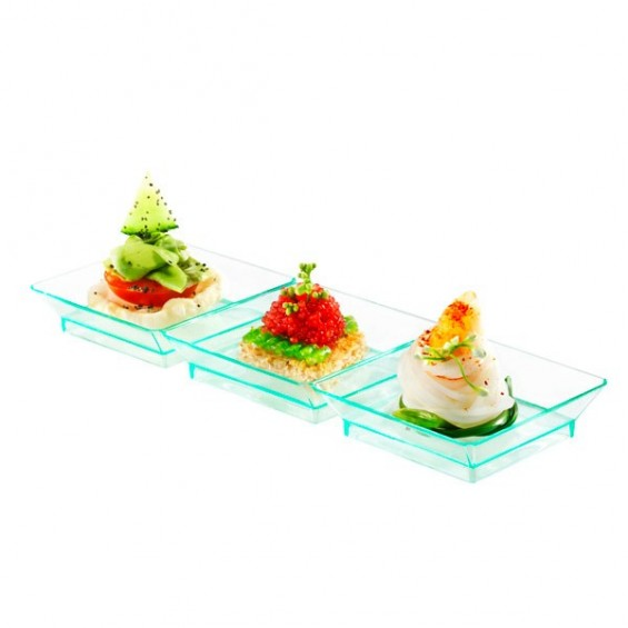 Trio Mini Plastic Plates 7 in. 200/cs - $0.69/pc