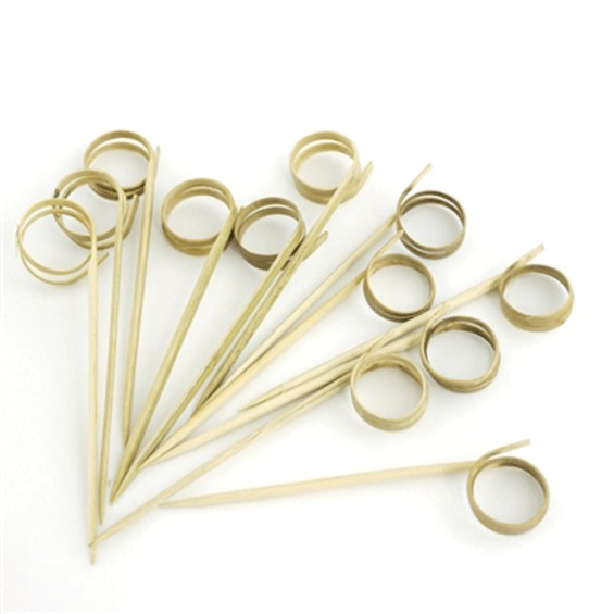 Ring Bamboo Skewer 4.7 in. 200/cs - $0.07/pc