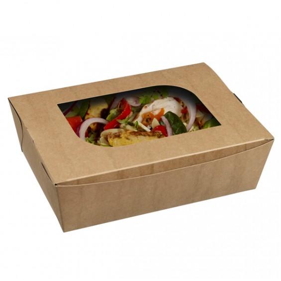 Barquette à Salade em Kraft avec fenêtre - 450/carton