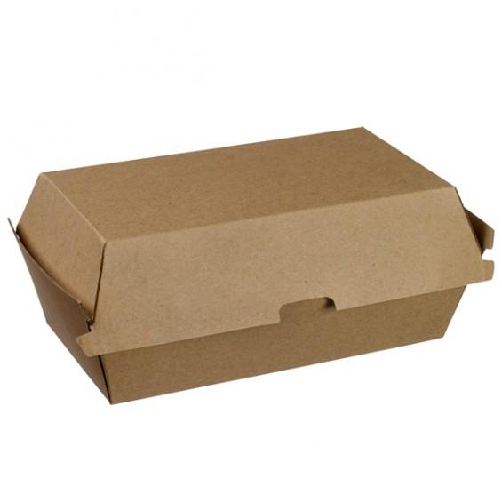 Boite à Burger en Kraft 140x140x70mm - 200/carton