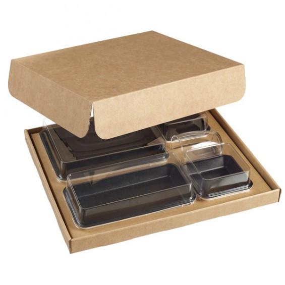 Plateau Repas 5 compartiments en Pulpe de Canne - 150/Carton