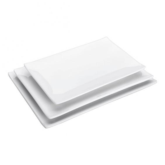 Assiette Rectangulaire en Mélamine 25 x 16 cm - 10/cs